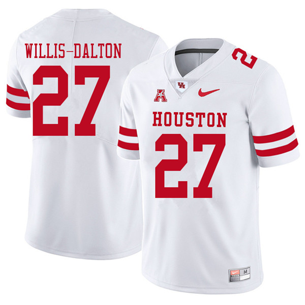 2018 Men #27 Amaud Willis-Dalton Houston Cougars College Football Jerseys Sale-White
