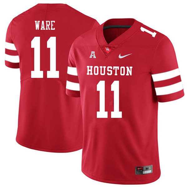 2018 Men #11 Andre Ware Houston Cougars College Football Jerseys Sale-Red