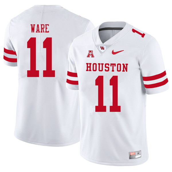 2018 Men #11 Andre Ware Houston Cougars College Football Jerseys Sale-White