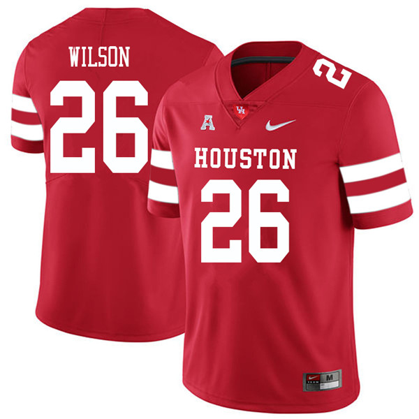 2018 Men #26 Brandon Wilson Houston Cougars College Football Jerseys Sale-Red
