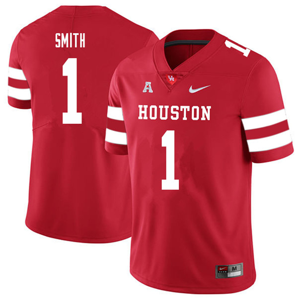 2018 Men #1 Bryson Smith Houston Cougars College Football Jerseys Sale-Red