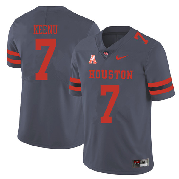 2018 Men #7 Case Keenum Houston Cougars College Football Jerseys Sale-Gray