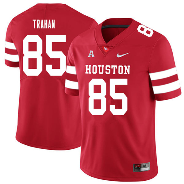2018 Men #85 Christian Trahan Houston Cougars College Football Jerseys Sale-Red