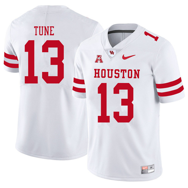 2018 Men #13 Clayton Tune Houston Cougars College Football Jerseys Sale-White