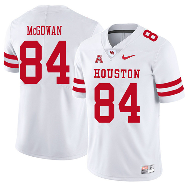 2018 Men #84 Cole McGowan Houston Cougars College Football Jerseys Sale-White