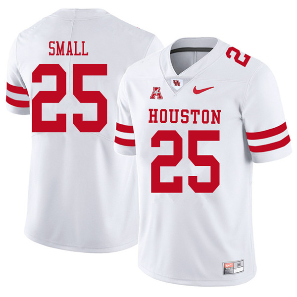 2018 Men #25 D.J. Small Houston Cougars College Football Jerseys Sale-White
