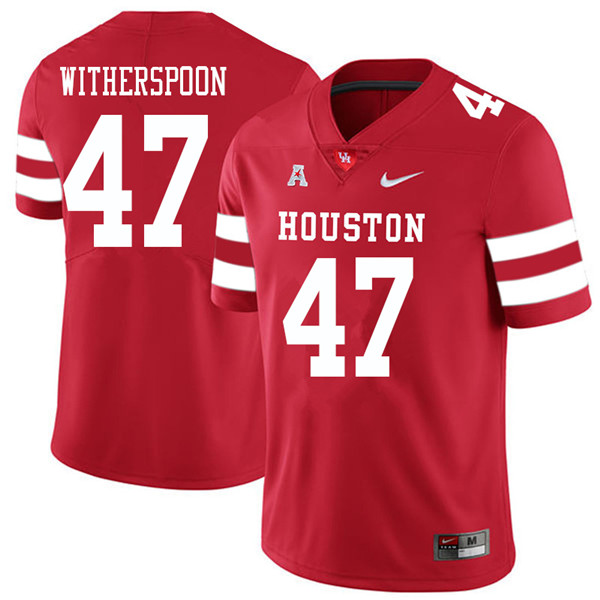 2018 Men #47 Dalton Witherspoon Houston Cougars College Football Jerseys Sale-Red