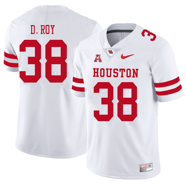 2018 Men #38 Dane Roy Houston Cougars College Football Jerseys Sale-White