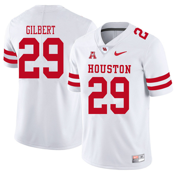 2018 Men #29 Darius Gilbert Houston Cougars College Football Jerseys Sale-White
