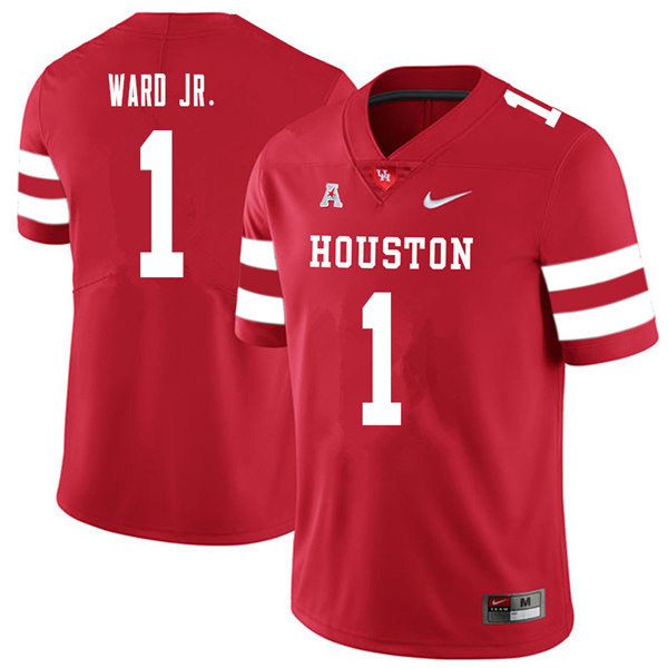 2018 Men #1 Greg Ward Jr. Houston Cougars College Football Jerseys Sale-Red
