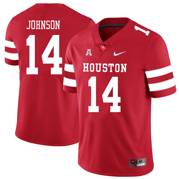 2018 Men #14 Isaiah Johnson Houston Cougars College Football Jerseys Sale-Red