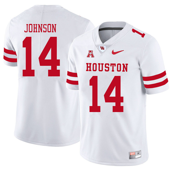 2018 Men #14 Isaiah Johnson Houston Cougars College Football Jerseys Sale-White