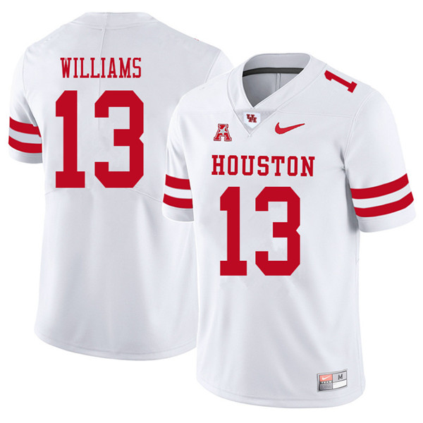 2018 Men #13 Joeal Williams Houston Cougars College Football Jerseys Sale-White