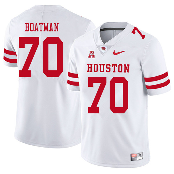 2018 Men #70 Jordan Boatman Houston Cougars College Football Jerseys Sale-White