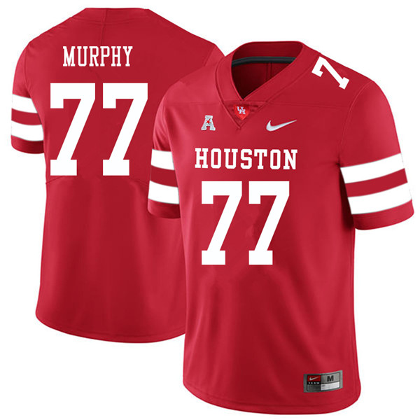 2018 Men #77 Keenan Murphy Houston Cougars College Football Jerseys Sale-Red