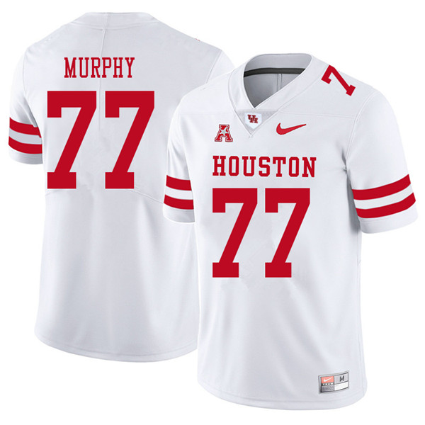 2018 Men #77 Keenan Murphy Houston Cougars College Football Jerseys Sale-White