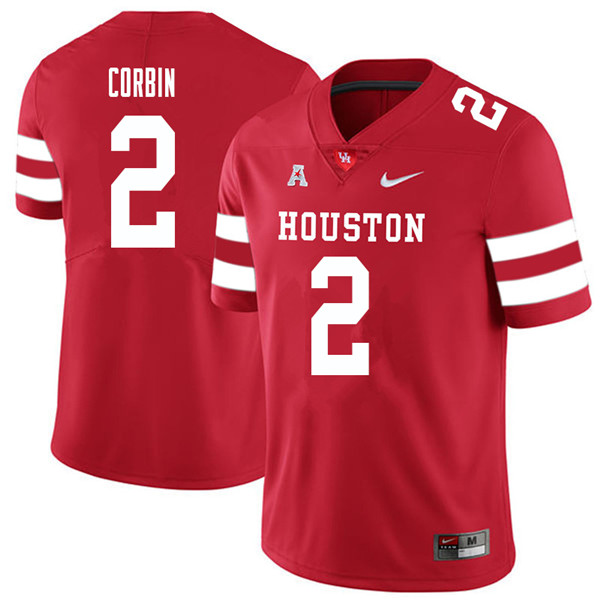 2018 Men #2 Keith Corbin Houston Cougars College Football Jerseys Sale-Red