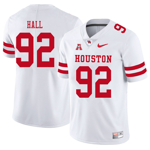 2018 Men #92 Logan Hall Houston Cougars College Football Jerseys Sale-White