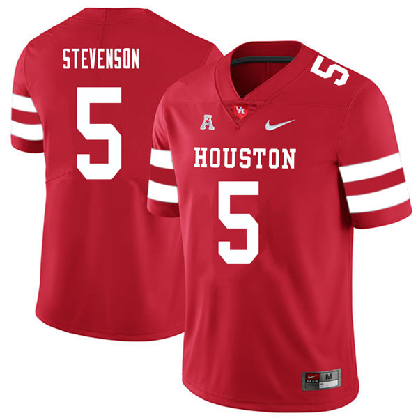 2018 Men #5 Marquez Stevenson Houston Cougars College Football Jerseys Sale-Red