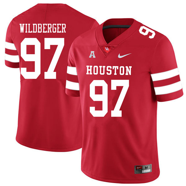 2018 Men #97 Nick Wildberger Houston Cougars College Football Jerseys Sale-Red