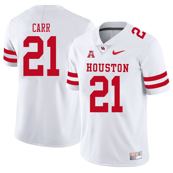 2018 Men #21 Patrick Carr Houston Cougars College Football Jerseys Sale-White