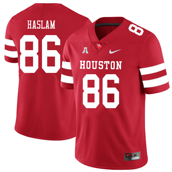 2018 Men #86 Payton Haslam Houston Cougars College Football Jerseys Sale-Red