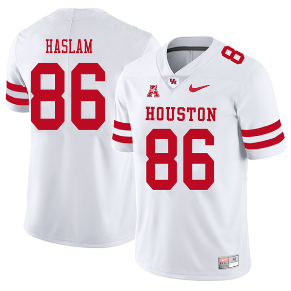 2018 Men #86 Payton Haslam Houston Cougars College Football Jerseys Sale-White