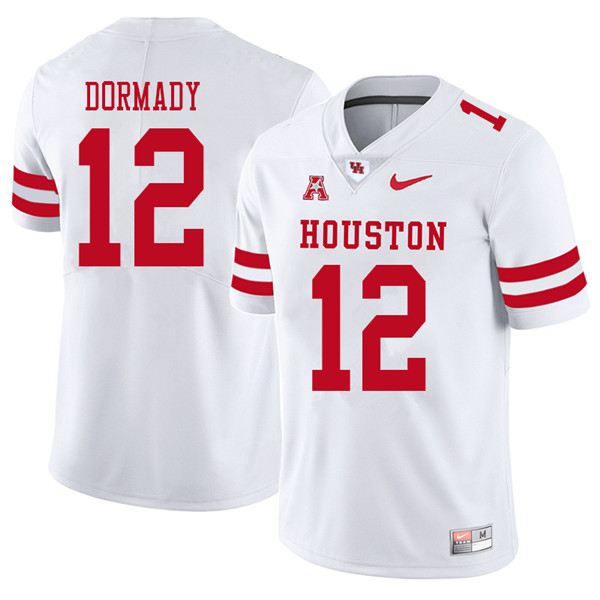 2018 Men #12 Quinten Dormady Houston Cougars College Football Jerseys Sale-White
