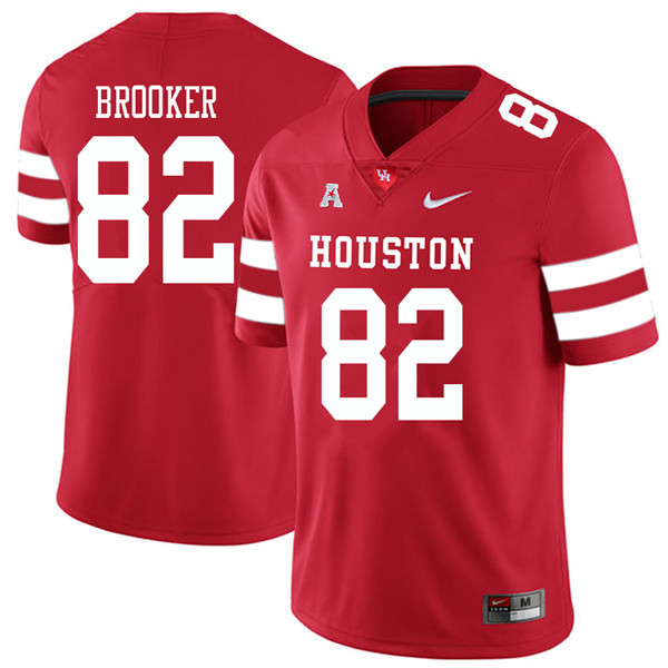 2018 Men #82 Romello Brooker Houston Cougars College Football Jerseys Sale-Red