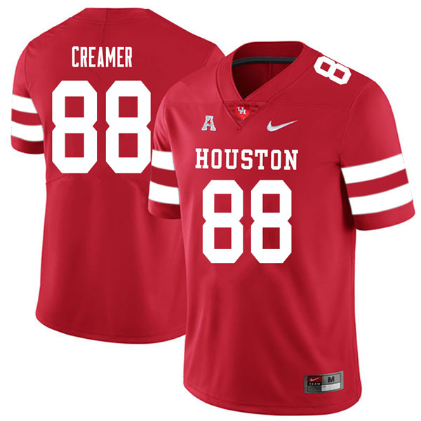 2018 Men #88 Shane Creamer Houston Cougars College Football Jerseys Sale-Red