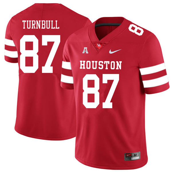 2018 Men #87 Sid Turnbull Houston Cougars College Football Jerseys Sale-Red