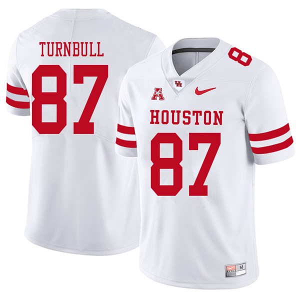 2018 Men #87 Sid Turnbull Houston Cougars College Football Jerseys Sale-White
