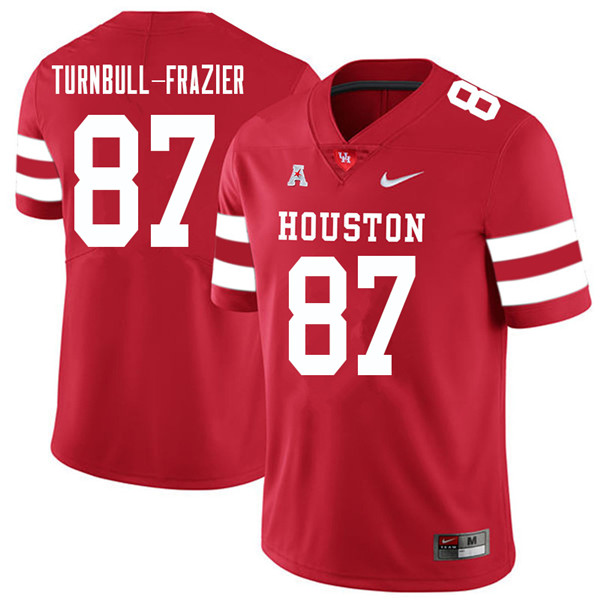 2018 Men #87 Sid Turnbull-Frazier Houston Cougars College Football Jerseys Sale-Red