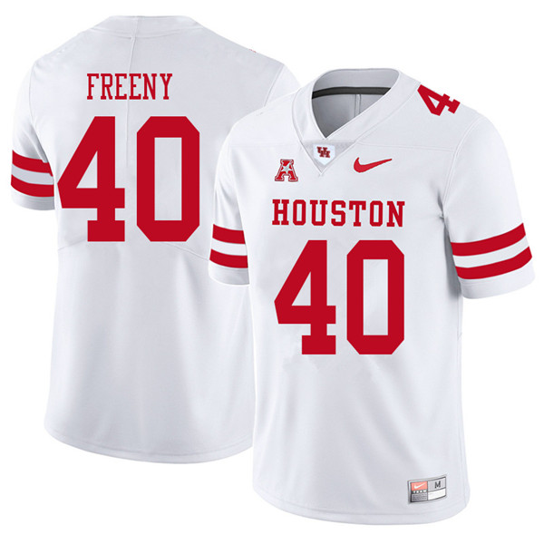 2018 Men #40 Tariq Freeny Houston Cougars College Football Jerseys Sale-White