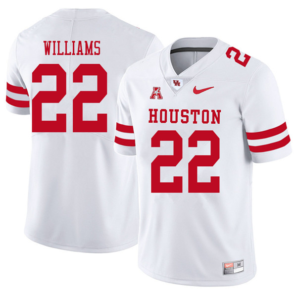 2018 Men #22 Terence Williams Houston Cougars College Football Jerseys Sale-White