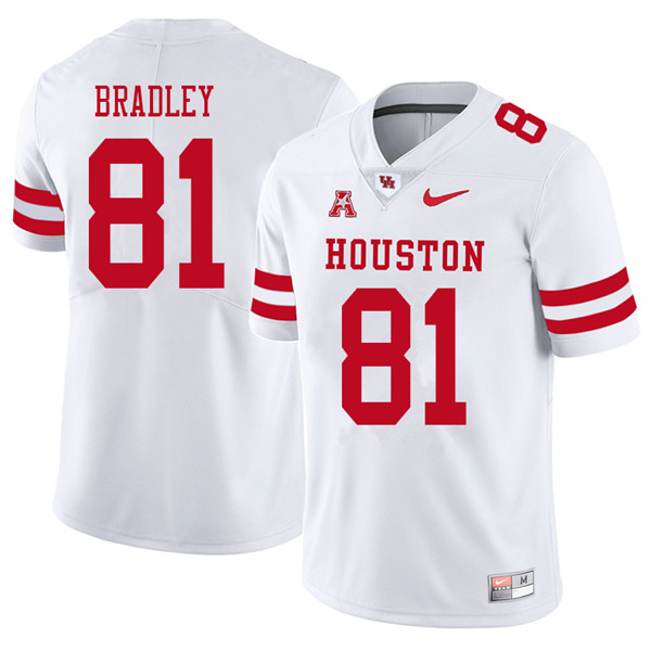 2018 Men #81 Tre'von Bradley Houston Cougars College Football Jerseys Sale-White