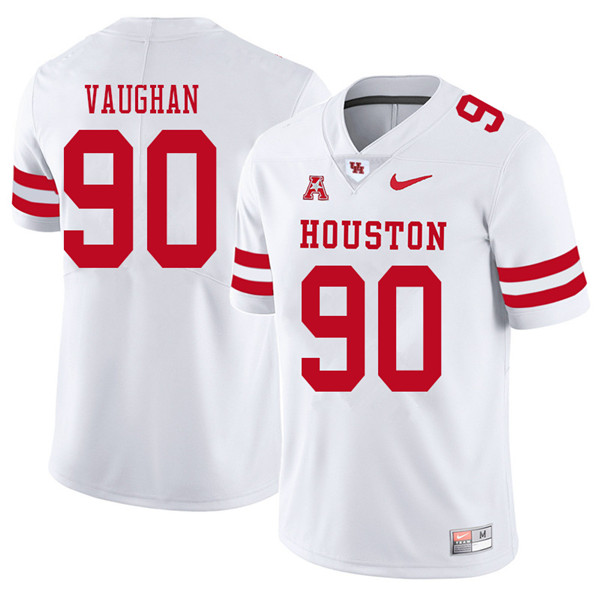 2018 Men #90 Zach Vaughan Houston Cougars College Football Jerseys Sale-White