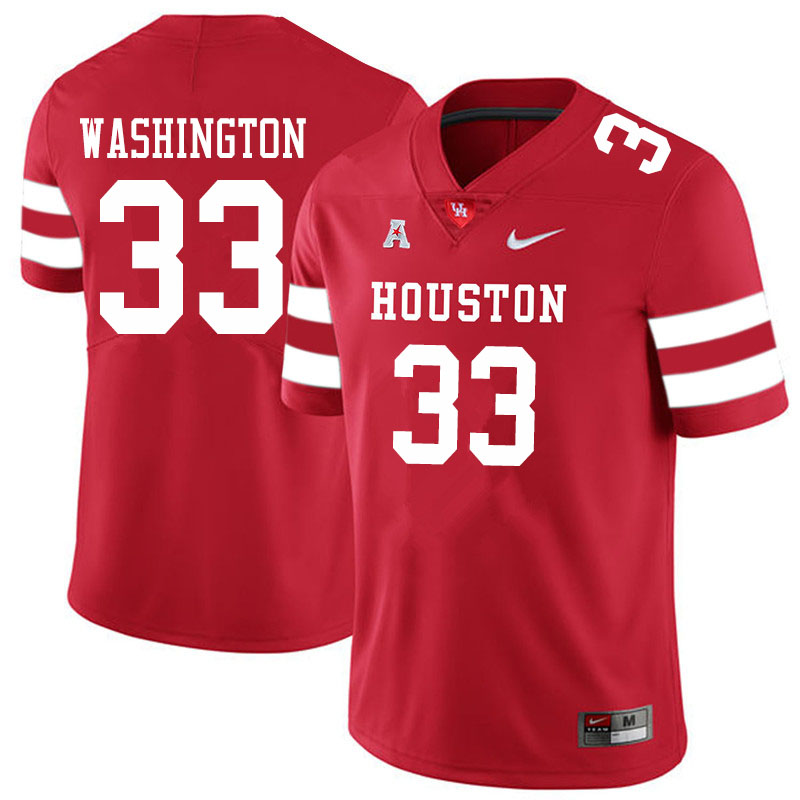 Men #33 Bryce Washington Houston Cougars College Football Jerseys Sale-Red