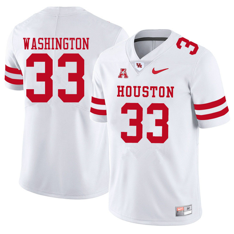 Men #33 Bryce Washington Houston Cougars College Football Jerseys Sale-White
