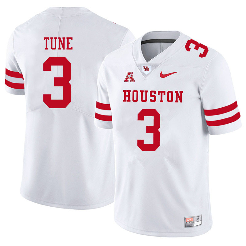 Men #3 Clayton Tune Houston Cougars College Football Jerseys Sale-White