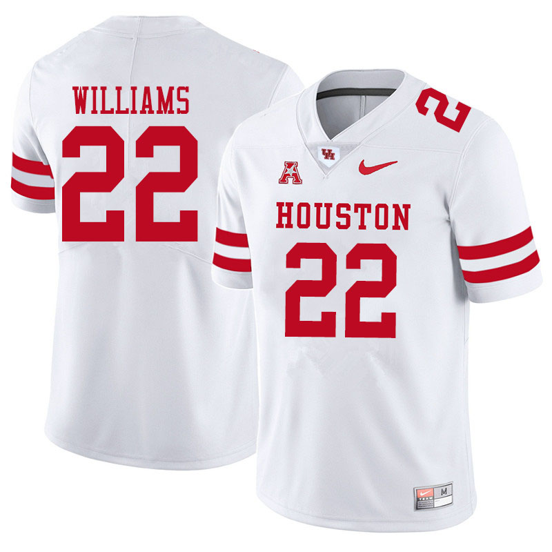 Men #22 Damarion Williams Houston Cougars College Football Jerseys Sale-White