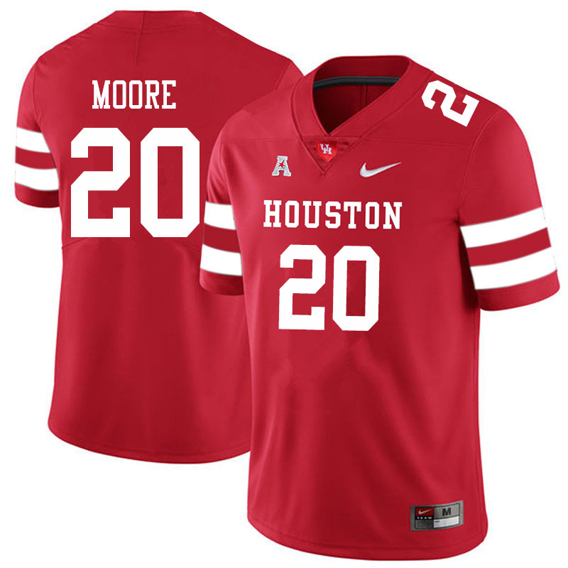 Men #20 Jordan Moore Houston Cougars College Football Jerseys Sale-Red