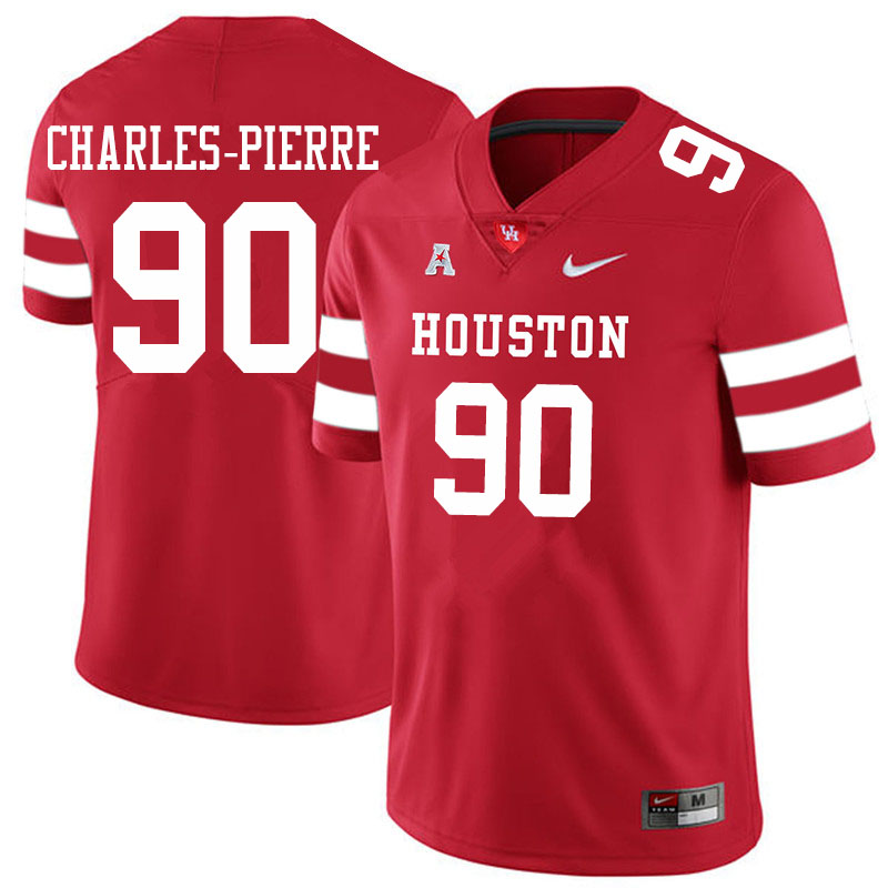 Men #90 Olivier Charles-Pierre Houston Cougars College Football Jerseys Sale-Red