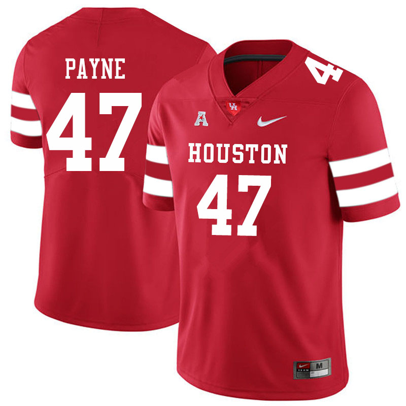 Men #47 Taures Payne Houston Cougars College Football Jerseys Sale-Red