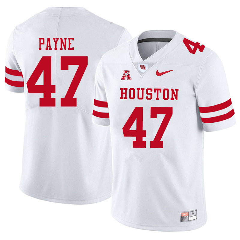 Men #47 Taures Payne Houston Cougars College Football Jerseys Sale-White