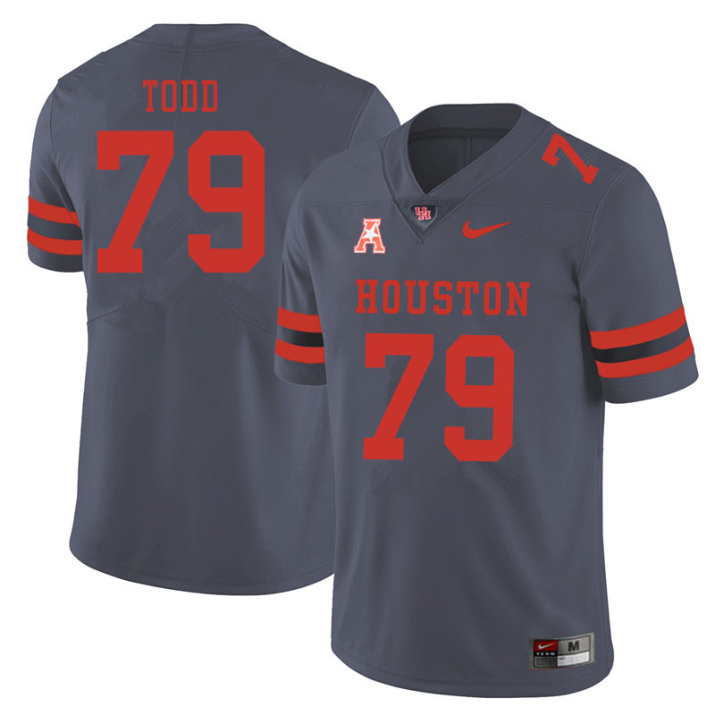 Men #79 Chayse Todd Houston Cougars College Football Jerseys Sale-Gray