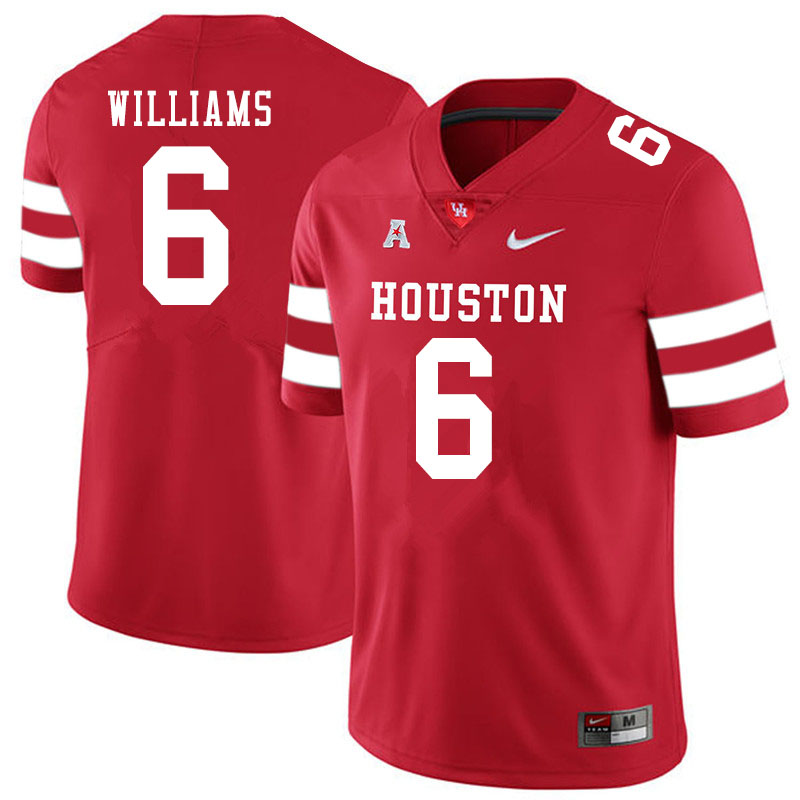 Men #6 Damarion Williams Houston Cougars College Football Jerseys Sale-Red