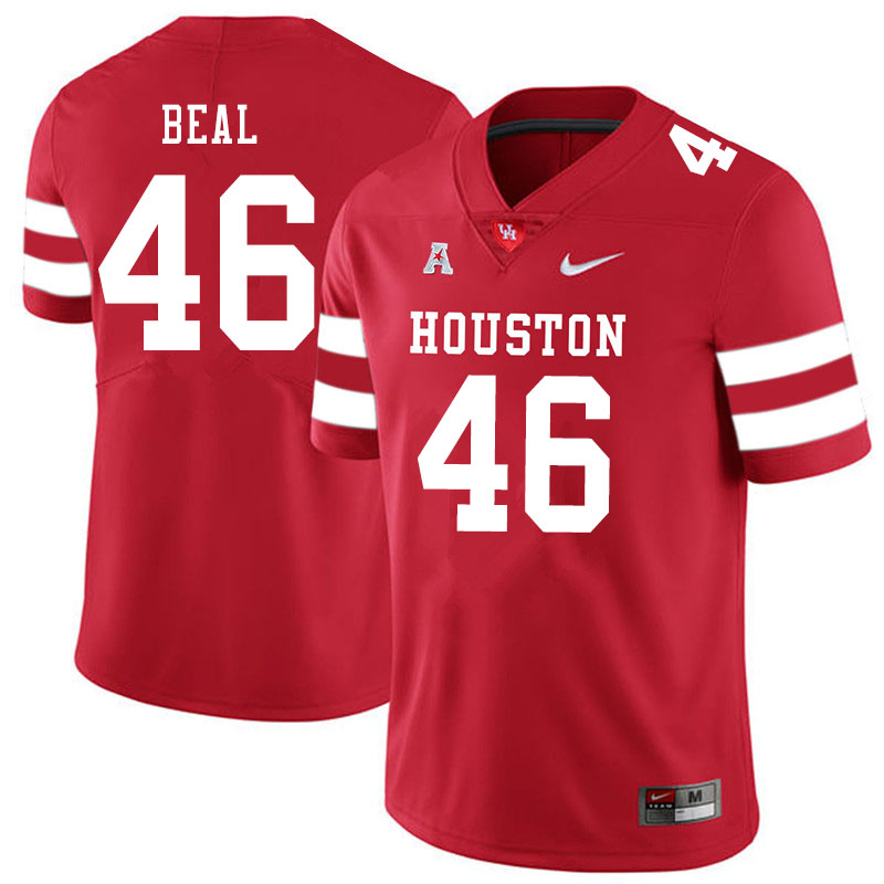 Men #46 Davis Beal Houston Cougars College Football Jerseys Sale-Red