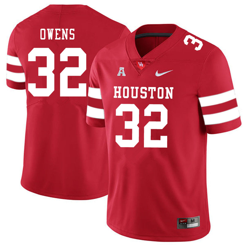 Men #32 Gervarrius Owens Houston Cougars College Football Jerseys Sale-Red
