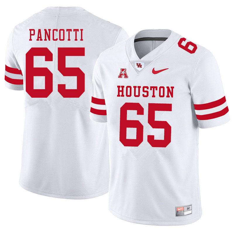 Men #65 Gio Pancotti Houston Cougars College Football Jerseys Sale-White